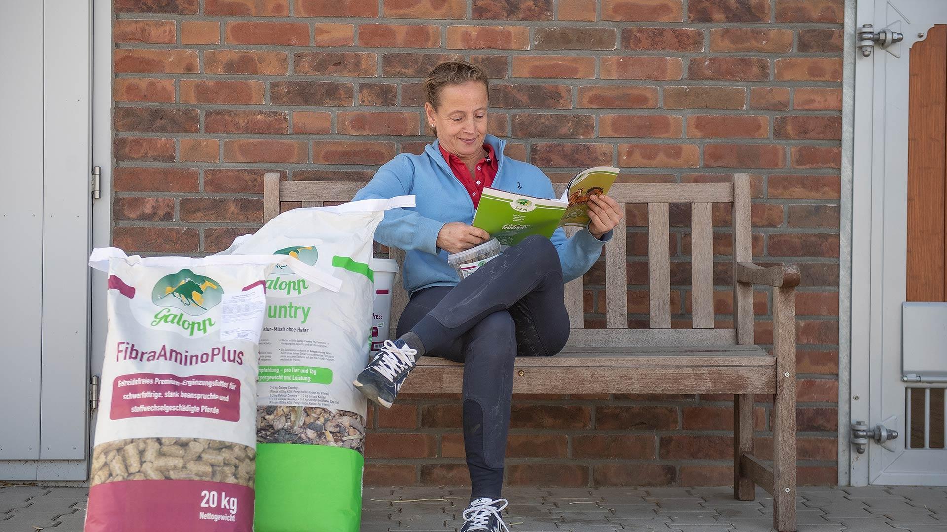 Olympiasiegerin Isabell Werth setzt auf Galopp-Pferdefutter